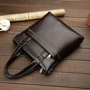 New Portable Shoulder Diagonal Package Men - BROWN