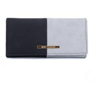 Women's Purse  Color Block Elegant Style Bag - GRAY