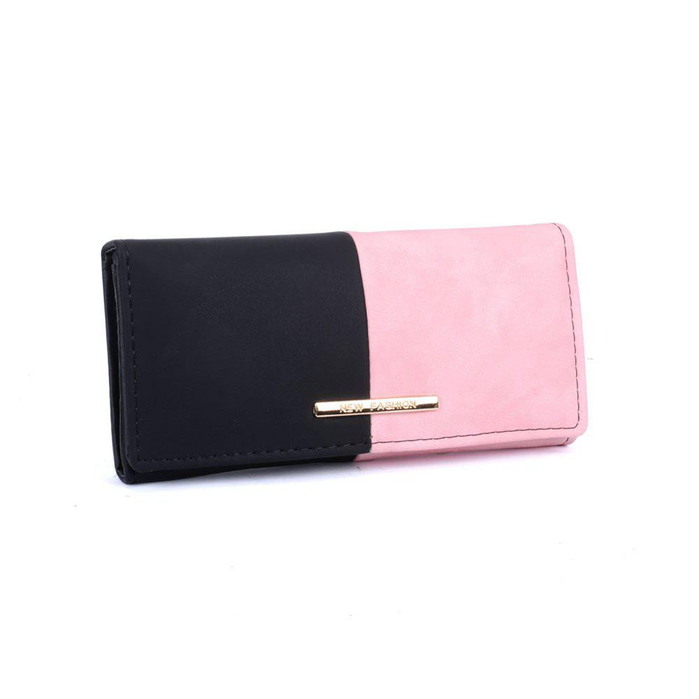 Women's Purse  Color Block Elegant Style Bag - PINK