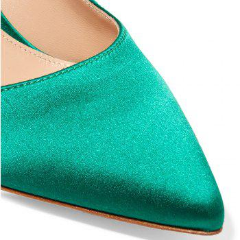 2018 New Simple Green Color Tine Tips for High Heels - GREEN 40