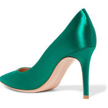 2018 New Simple Green Color Tine Tips for High Heels - GREEN 36