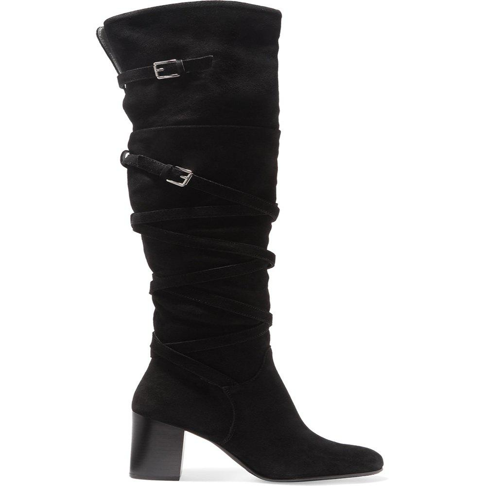 2018 New Black Velvet High Boots - BLACK 41