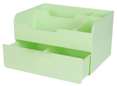 Large-Capacity Drawer Desktop Cosmetics Sundries Storage Box - GREEN 26.7X19.7X15.8CM