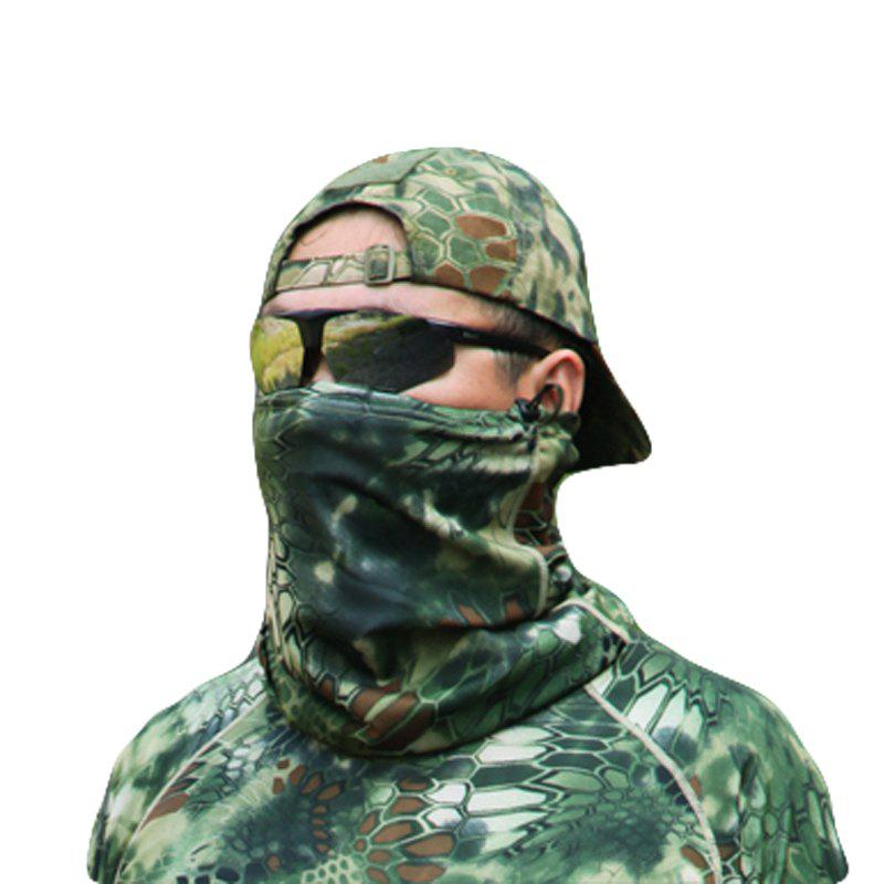 Camouflage Sports Elastic Variety Breathable Protective Concealed Collar Mask for Men and Women - JUNGLE CAMOUFLAGE