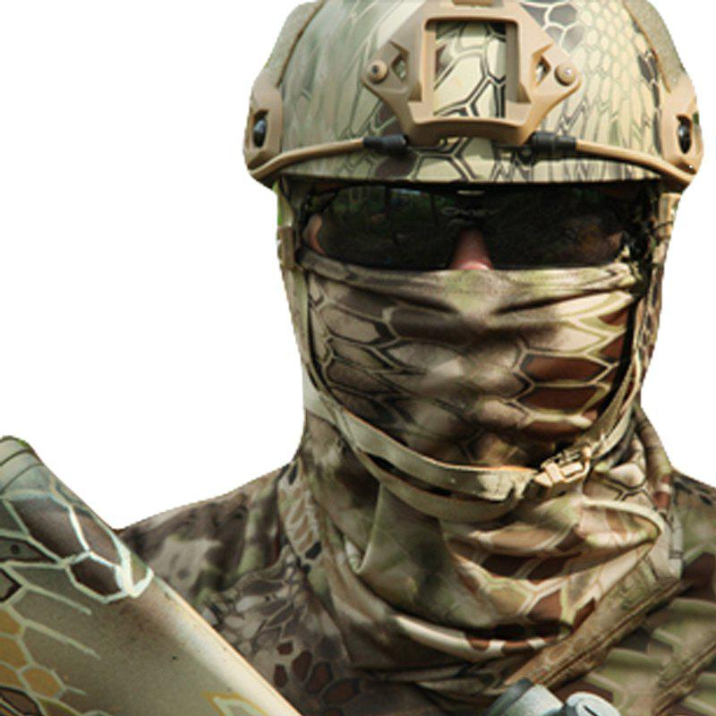 Camouflage Sports Elastic Variety Breathable Protective Concealed Collar Mask for Men and Women - PYTHON WALL SNAKE MUD