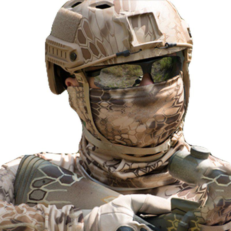 Camouflage Sports Elastic Variety Breathable Protective Concealed Collar Mask for Men and Women - DESERT CAMOUFLAGE