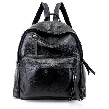 Tassels Backpack Women Simple Wild Tide Soft