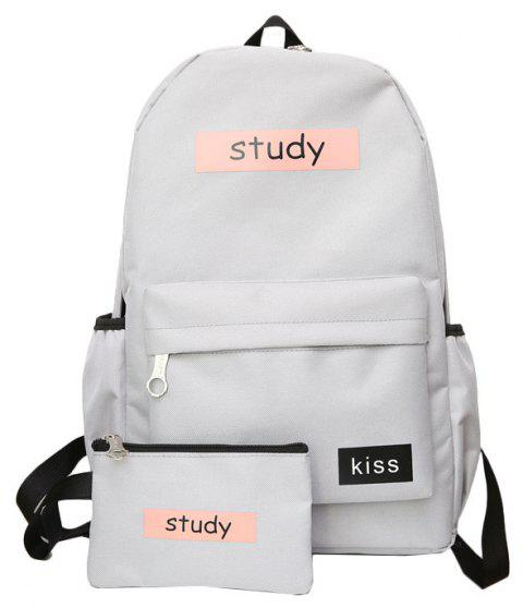 Lash Package Pure Color Backpack Student - GRAY