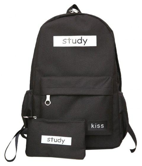 Lash Package Color Backpack Student - BLACK