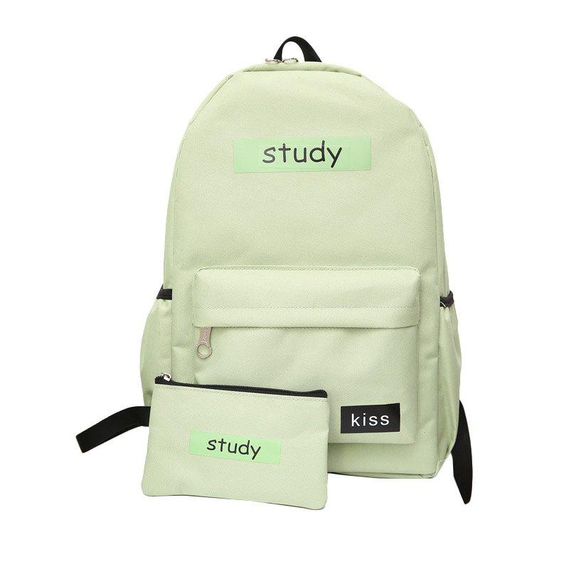 Lash Package Pure Color Backpack Student - IVY