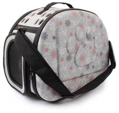 Lovoyager LVC0123 Fashion Folding Portable Pet Goes Out Backpack - GRAY L