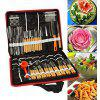 80pcs Portable Vegetable Fruit Food Wood Box Peeling Carving Tools - STAINLESS STEEL