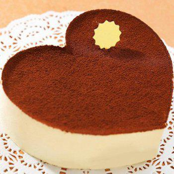 4 Inch Heart Shaped Cake Pan Tray NonStick  DIY Baking Mold with Removable Bottom and Buckle - BLACK