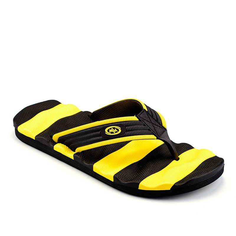 Outdoor Beach Non-slip Slipers for Man - YELLOW 43