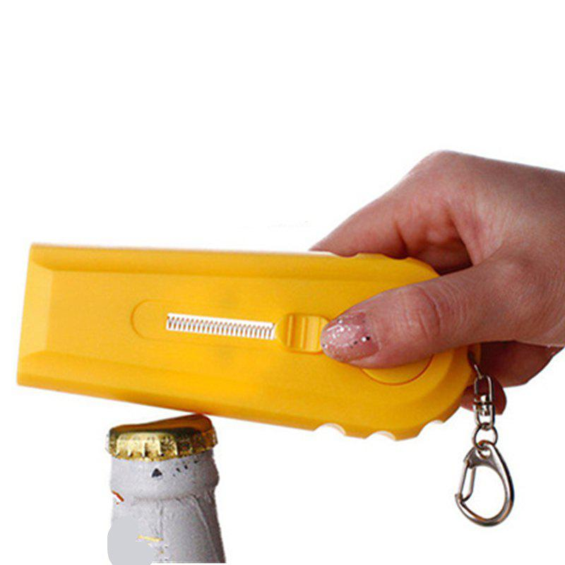 Wine Bar Bullet Toy Open Wine Bottle Opener Creative Beer - YELLOW 11.7X4.2X1.5CM