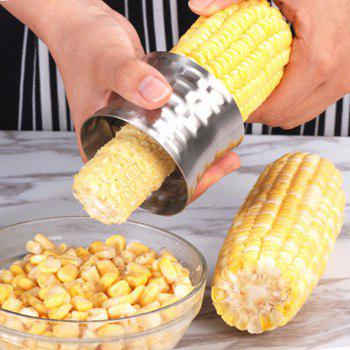 Stainless Steel Household Shelling Corn Thresher Peeling Device Creative Kitchens - SILVER 8X5CMX3.5X2CM