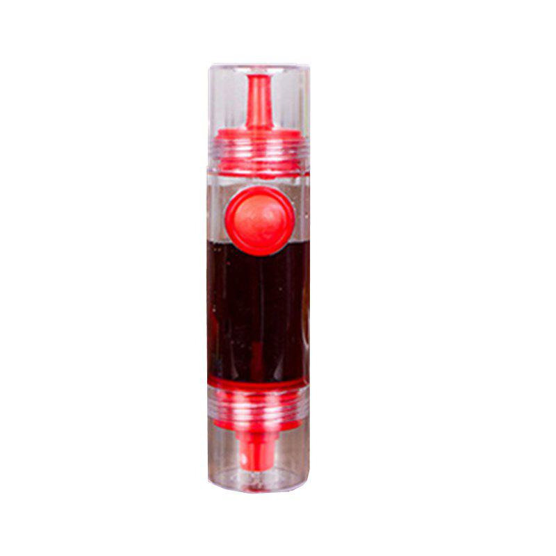 Creative Kitchen Spray Oil Vinegar Sauce Bottle Pressing Type with Nozzle Leakage Control Soy - RED 8.5X4.5CM
