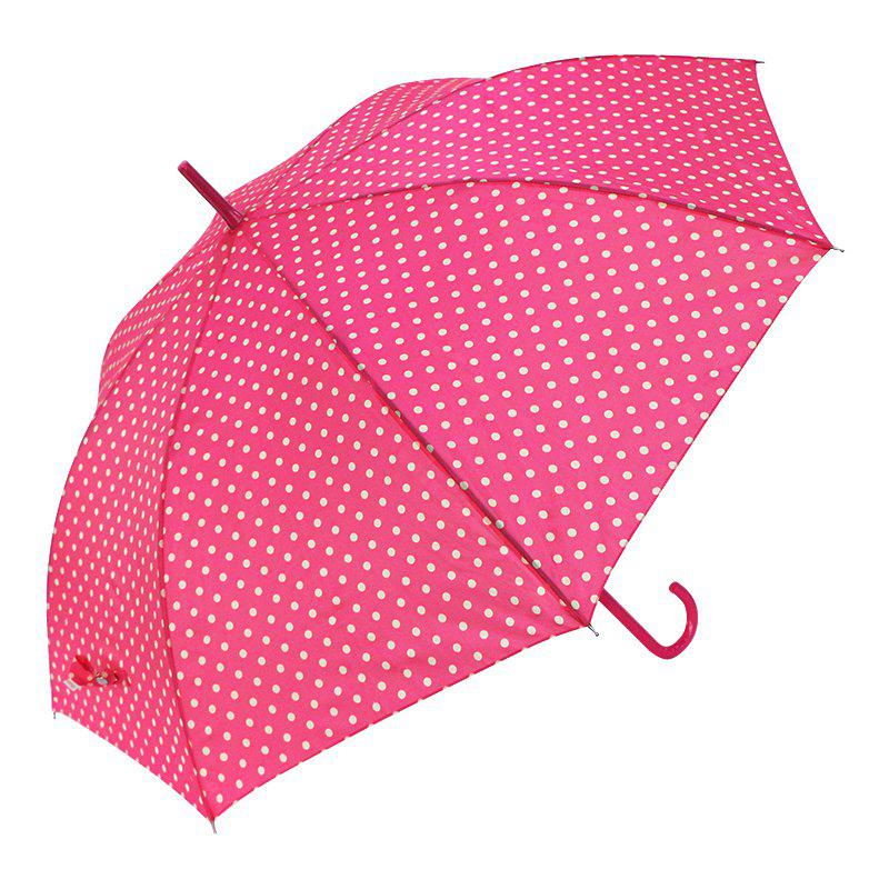 Auto Open Windproof Polka Dot Walking Umbrella Ladies - PINK