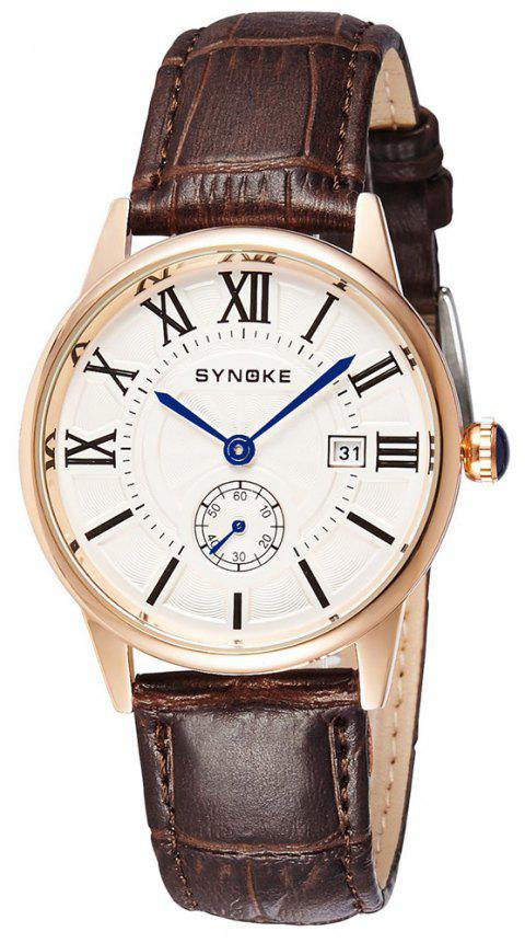 SYNOKE 8603 Men'S Waterproof Quartz Watch - GOLD COFFEE