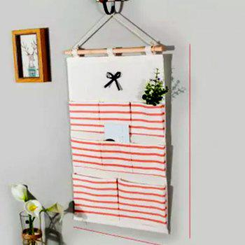 A Simple Cotton Door Hanging Storage Bag Home Kitchen Wall Multifunctional Hanging  Bag - RED