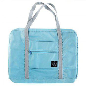 Foldable Tourist Large Hand-Held Sack Bar Suitcase  For Luggage Bags - BLUE