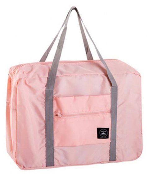 Foldable   Tourist Large Hand-Held Sack Bar Suitcase  For Luggage Bags - PINK