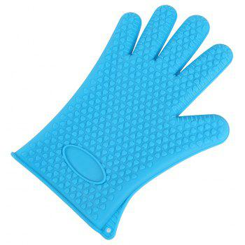 Kitchen Heat Resistant Silicone Gloves 1PCS - BLUE