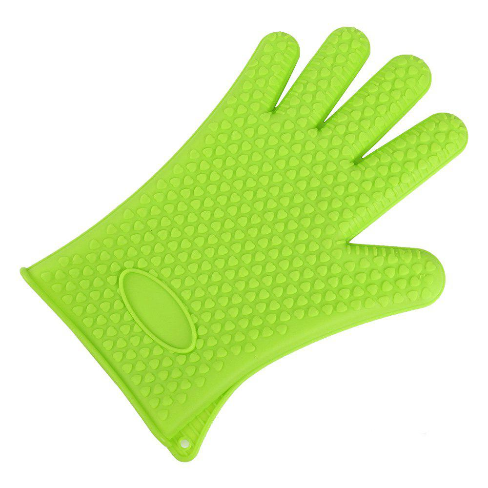 Kitchen Heat Resistant Silicone Gloves 1PCS - GREEN