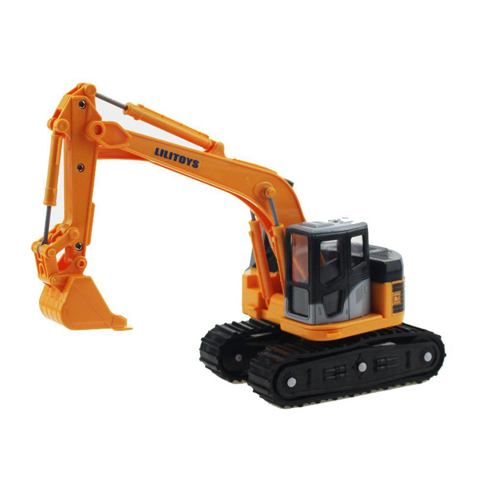 Construction Vehicles Series Small Folder Forklifts Simulation Inertial Toy - YELLOW