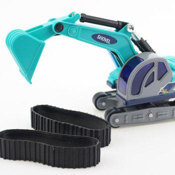 Small Excavator Toy Model Crawler for Children - GREEN