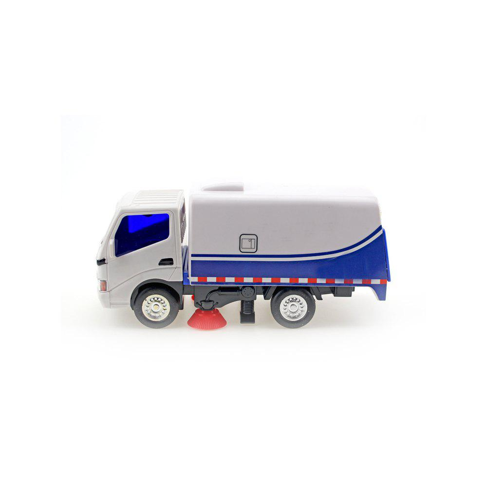 Inertia Truck Cleaning Car Garbage Road Sweeper Boy Child Toy Model - WHITE