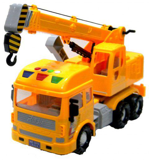 Inertial Truck Toy Large Crane Boy Boom Retractable - YELLOW