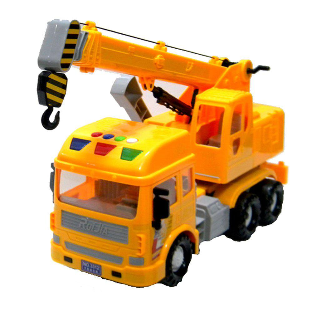 Inertial Truck Toy Grand Crane garçon Boom Retractable - Jaune