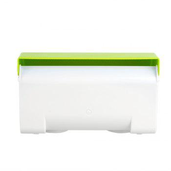 Bathroom Waterproof Large Size Tissue Plastic Holder Box - GREEN