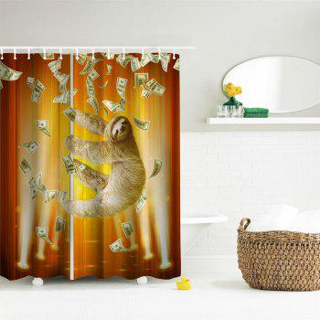 Pipe Sloth Polyester Shower Curtain Bathroom  High Definition 3D Printing Water-Proof - COLORMIX W59 INCH * L71 INCH