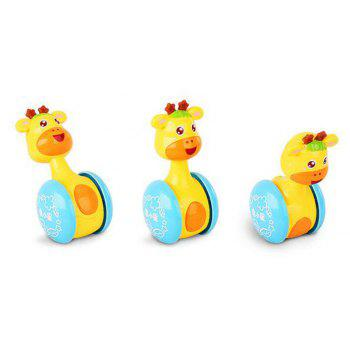 Burst Deer Small Stars Tumbler Rattles New Toys for Children - YELLOW