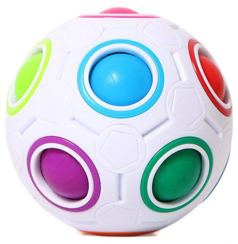 Mini Magic Rainbow Ball Football Fidget Cube Decompression Finger Toys Children Gifts - WHITE