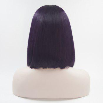 Bob Style Purple Color Haet Resistant Synthetic Hair Lace Front Wigs for Women - PURPLE 16INCH