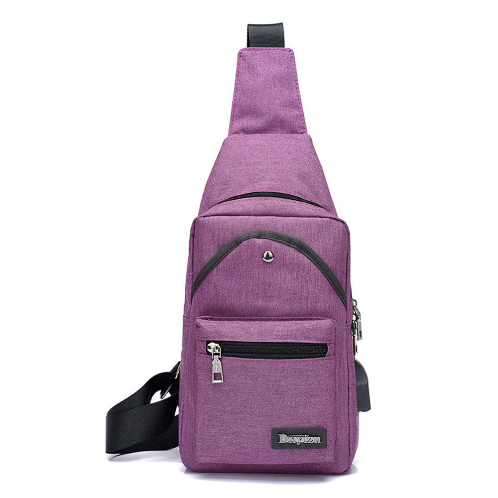Shoulder Sports Small Breasts Fashion Outdoor Men's Bags Headphone Hole Travel Pouch - PURPLE