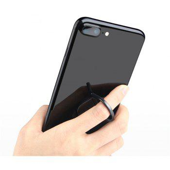 Universal Metal Water Droplet Finger Ring Grip Stand Phone Holder - BLACK