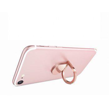 Universal Metal Water Droplet Finger Ring Grip Stand Phone Holder - ROSE GOLD