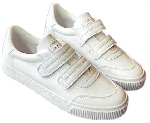 Velcro Harajuku Breathable Shoes - WHITE 36