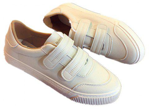 Velcro Harajuku Breathable Shoes - BEIGE 39