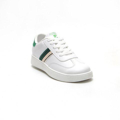 The New Spring All-Match Student Leather Fresh Art Leisure Shoes - IVY 37