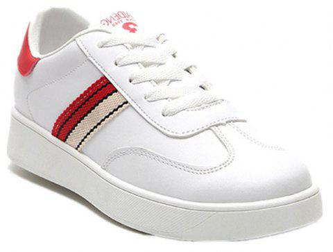 The New Spring All-Match Student Leather Fresh Art Leisure Shoes - RED 39