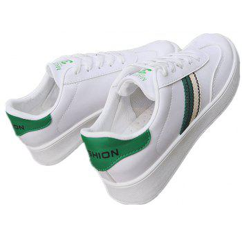 The New Spring All-Match Student Leather Fresh Art Leisure Shoes - IVY 36