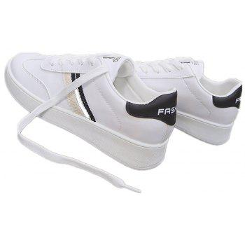 The New Spring All-Match Student Leather Fresh Art Leisure Shoes - BLACK 40