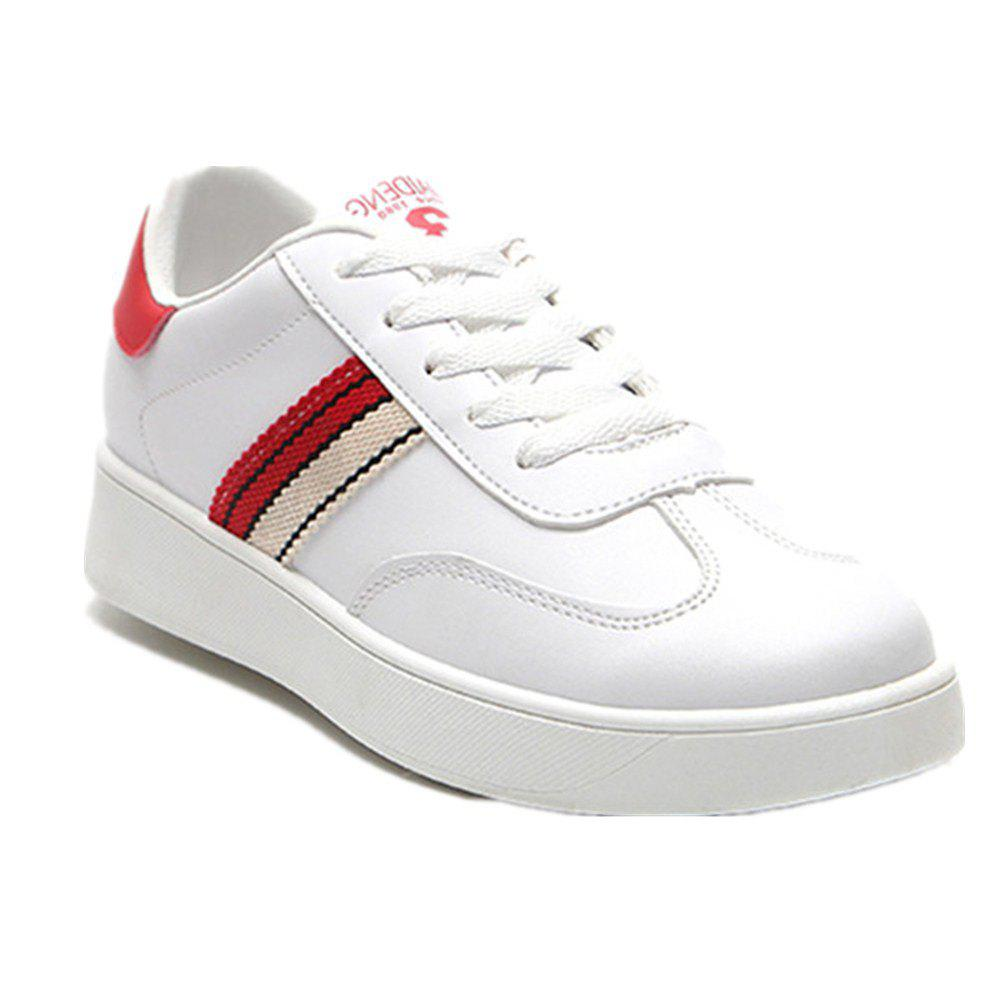 The New Spring All-Match Student Leather Fresh Art Leisure Shoes - RED 36