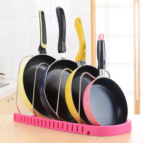 Kitchen Multi-Functional Stainless Steel Pan Cutting Board Racks - ROSE RED 25X30X45CM