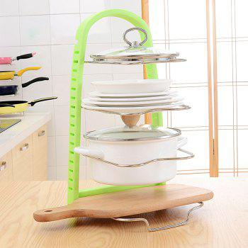 Kitchen Multi-Functional Stainless Steel Pan Cutting Board Racks - GREEN 25X30X45CM